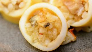 創作料理のパエリア風イカ飯