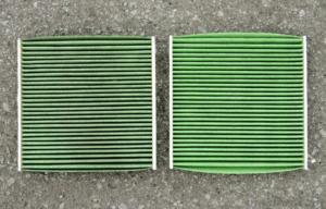 車のクリーンエアフィルターの汚れ