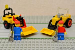 625 工事トラクターと6630 シャベルカー